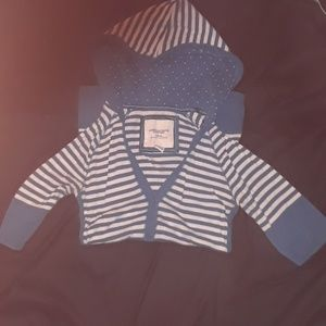 Blue and white striped American Eagle 1/4 sleeves